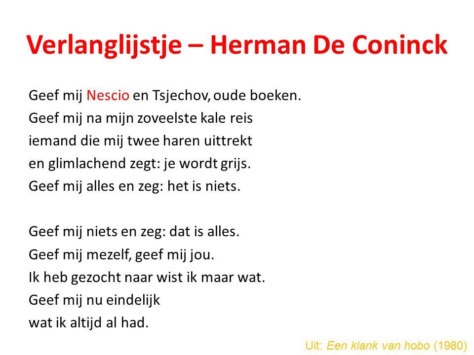 Verlanglijstje – Herman De Coninck