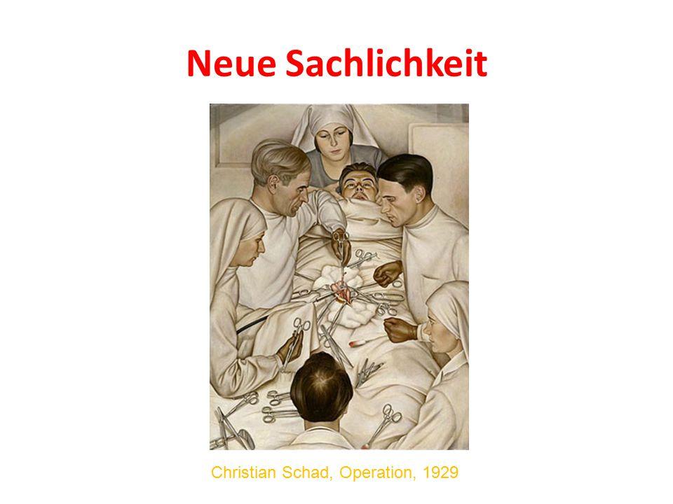Neue Sachlichkeit Christian Schad, Operation, 1929