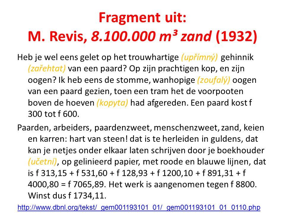 Fragment uit: M. Revis, 8.100.000 m³ zand (1932)