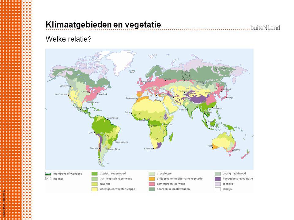 Klimaatgebieden en vegetatie