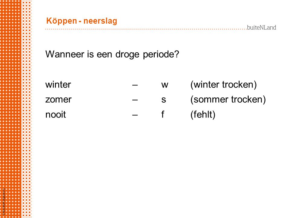 Wanneer is een droge periode winter – w (winter trocken)