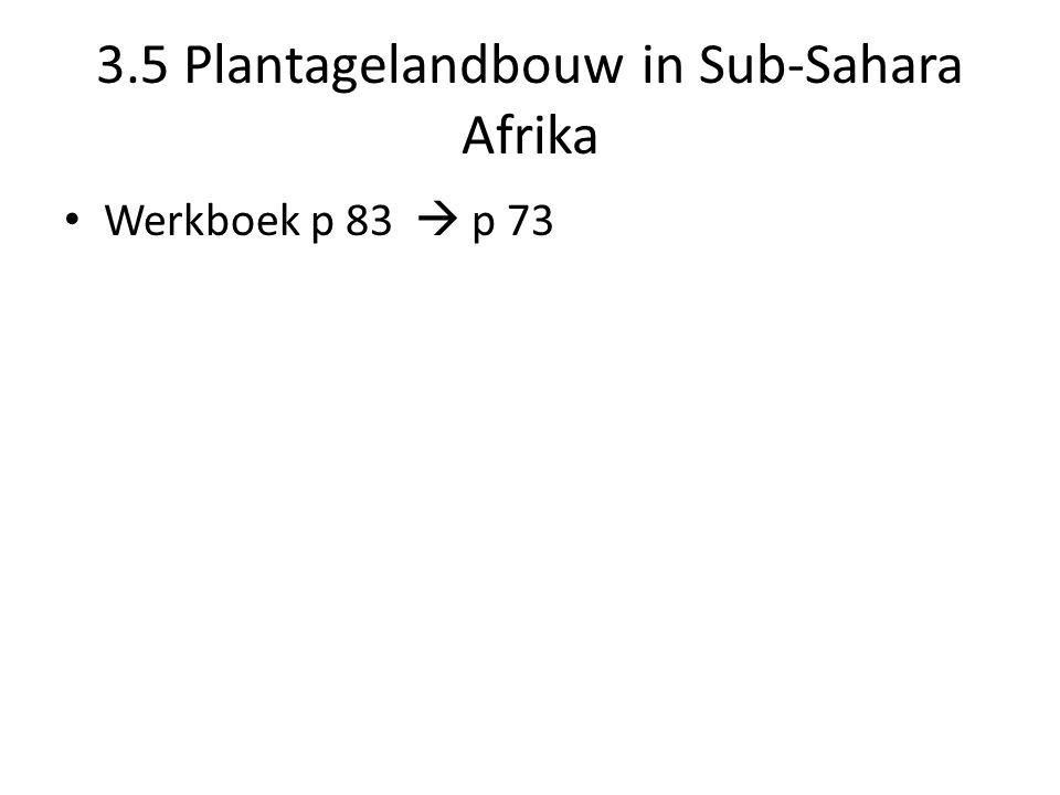 3.5 Plantagelandbouw in Sub-Sahara Afrika