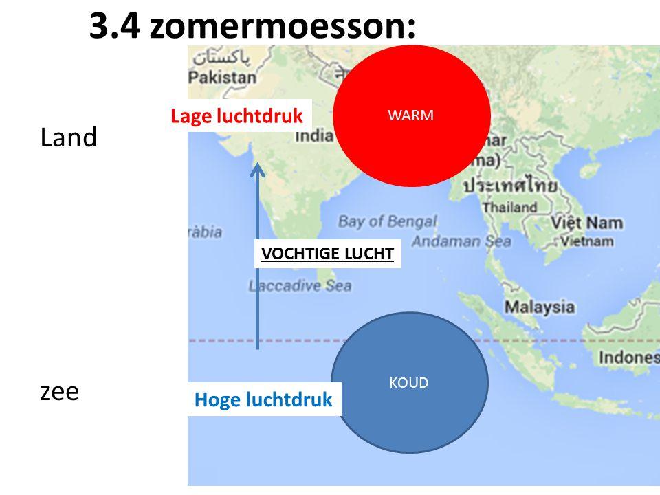 3.4 zomermoesson: Land zee Lage luchtdruk Hoge luchtdruk