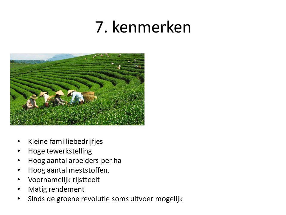 7. kenmerken Kleine familliebedrijfjes Hoge tewerkstelling