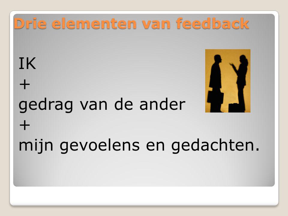 Drie elementen van feedback
