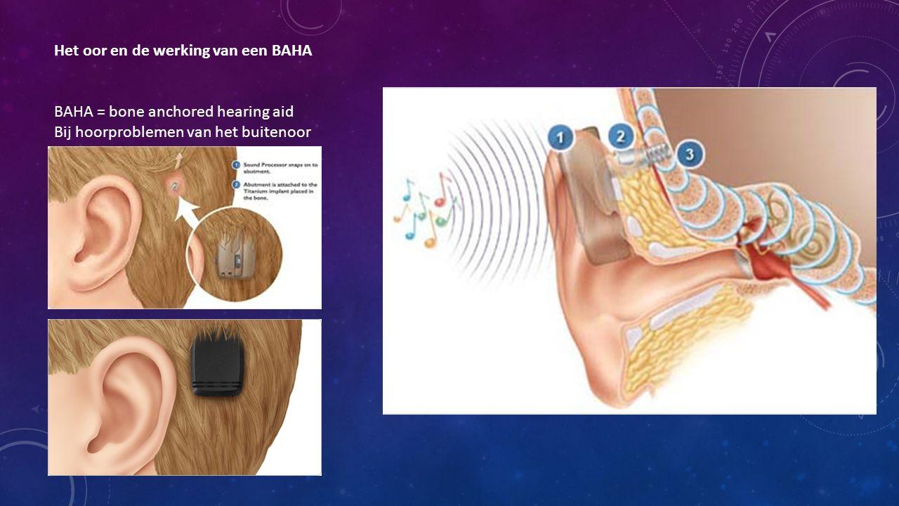 Het oor en de werking van een BAHA