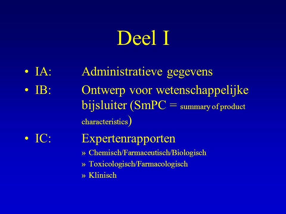 Deel I IA: Administratieve gegevens