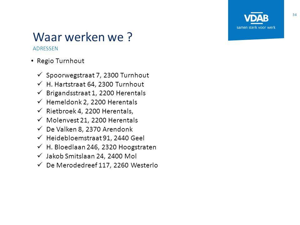 Waar werken we Regio Turnhout Spoorwegstraat 7, 2300 Turnhout