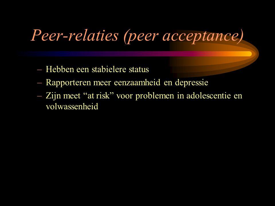 Peer-relaties (peer acceptance)