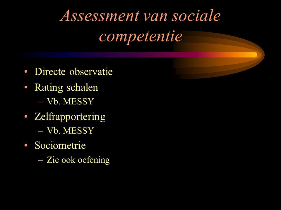 Assessment van sociale competentie