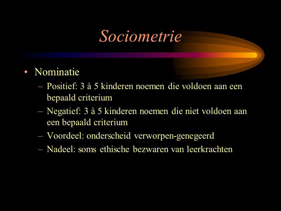 Sociometrie Nominatie