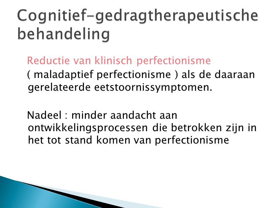 Cognitief-gedragtherapeutische behandeling