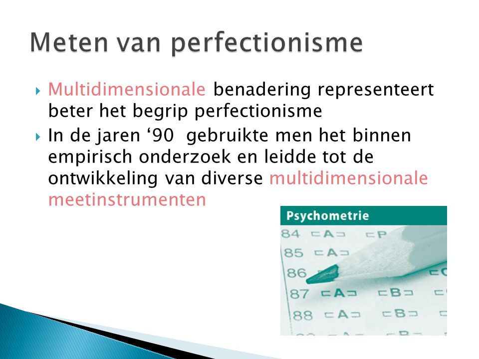Meten van perfectionisme