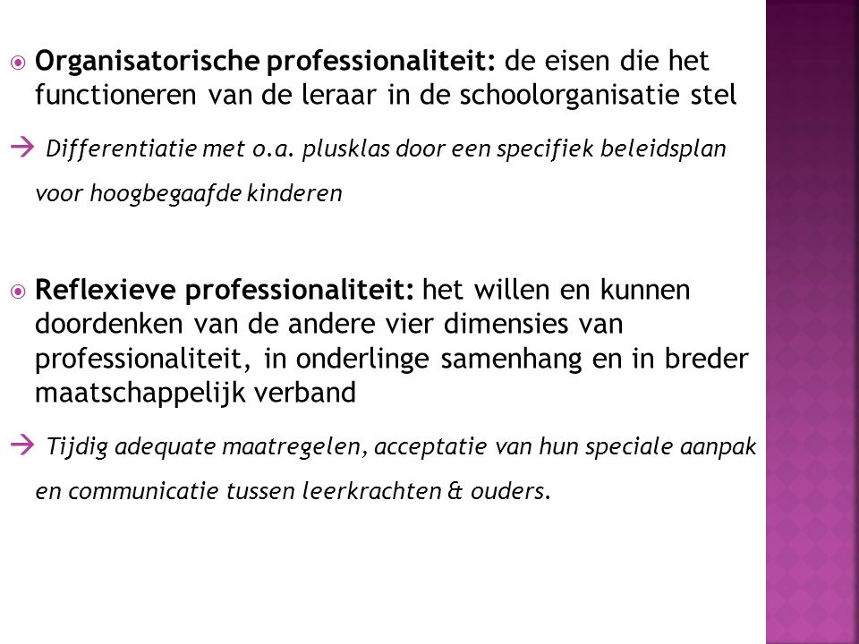 Organisatorische professionaliteit: de eisen die het functioneren van de leraar in de schoolorganisatie stel