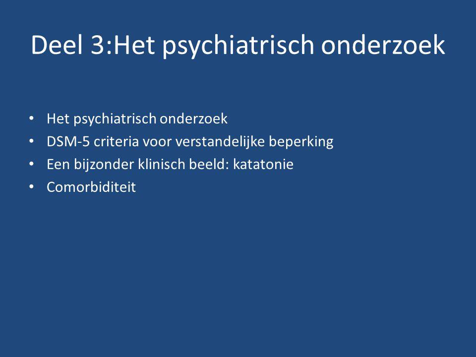 Deel 3:Het psychiatrisch onderzoek