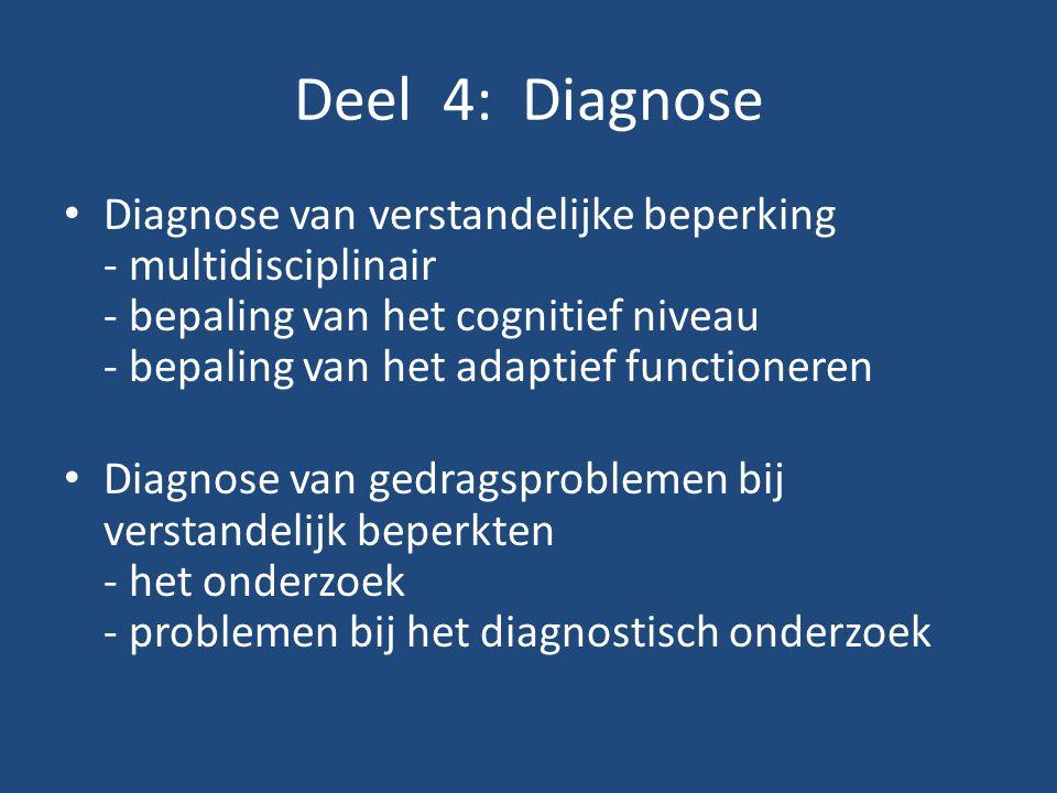 Deel 4: Diagnose