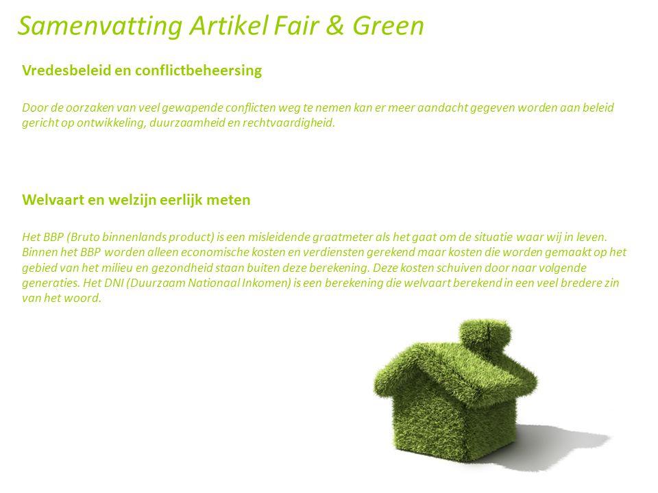 Samenvatting Artikel Fair & Green