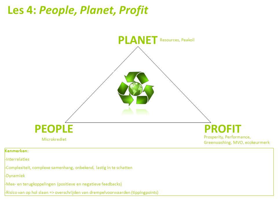 Les 4: People, Planet, Profit