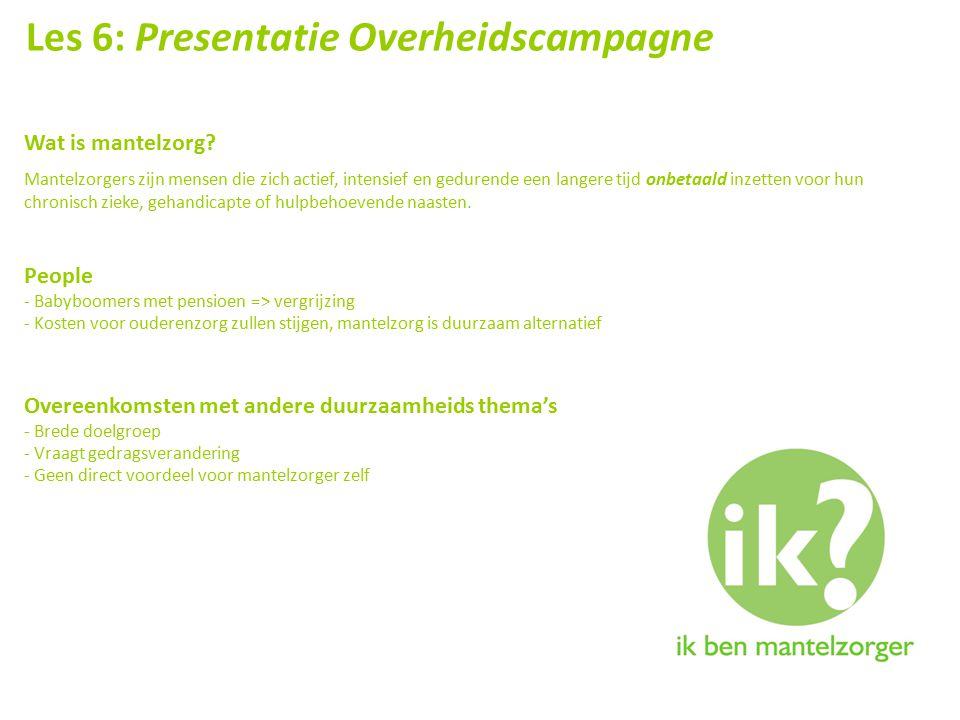 Les 6: Presentatie Overheidscampagne