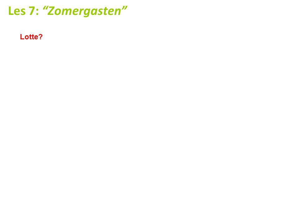 Les 7: Zomergasten Lotte