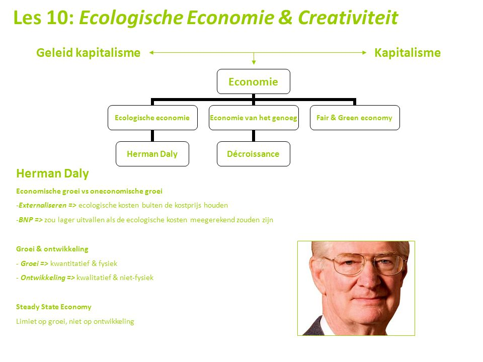 Les 10: Ecologische Economie & Creativiteit