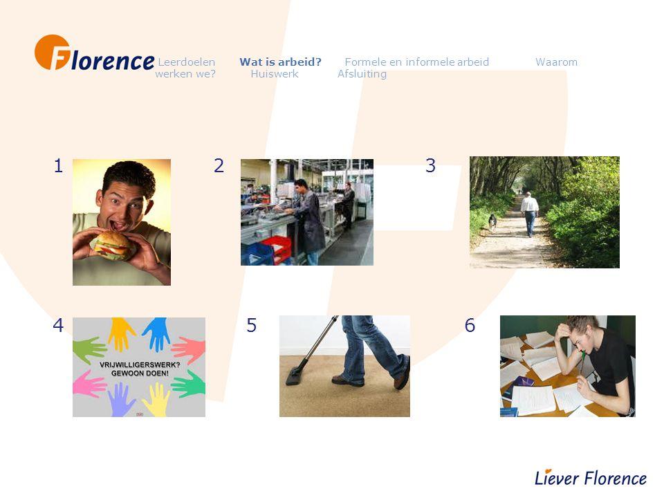 Leerdoelen Wat is arbeid. Formele en informele arbeid Waarom werken we