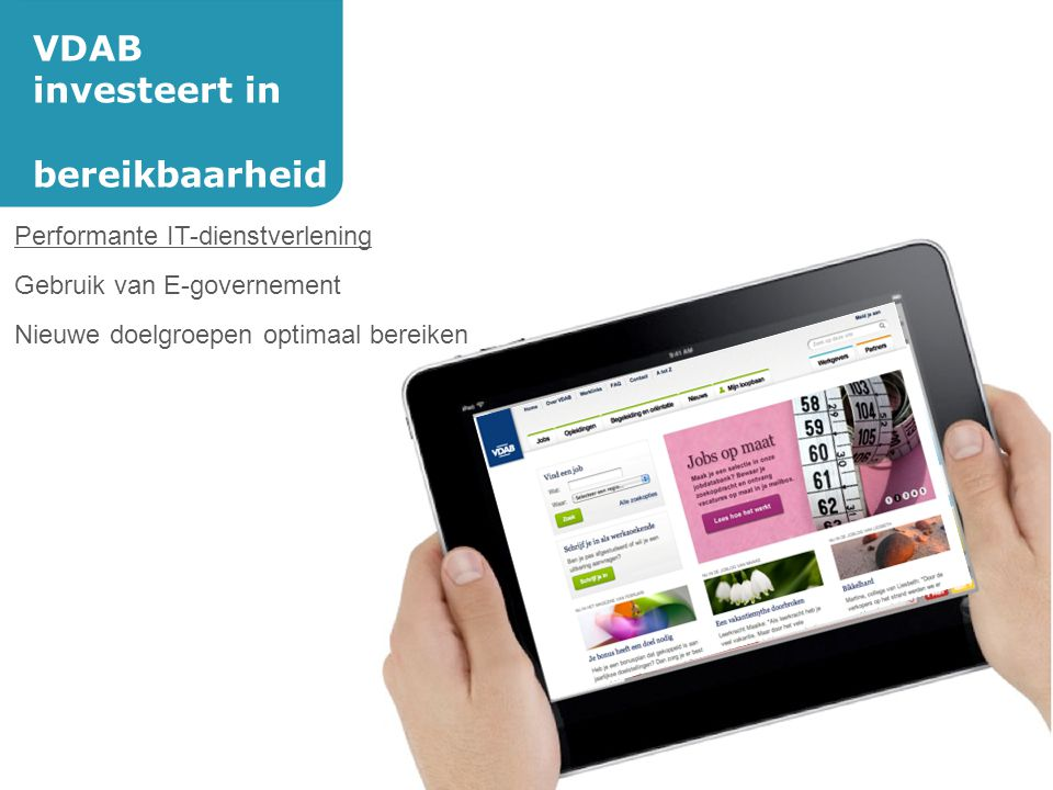 VDAB investeert in bereikbaarheid