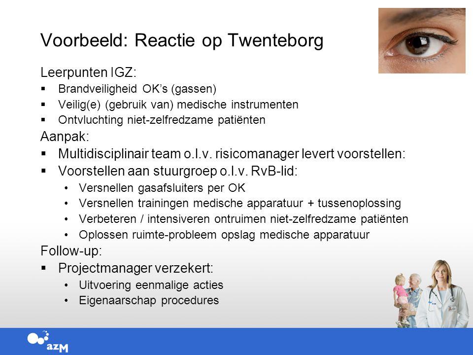 Voorbeeld: Reactie op Twenteborg