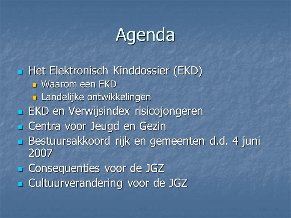 Agenda Het Elektronisch Kinddossier (EKD)