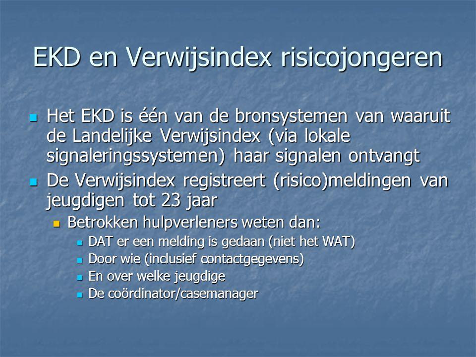 EKD en Verwijsindex risicojongeren