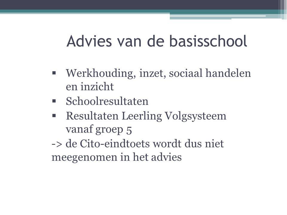 Advies van de basisschool