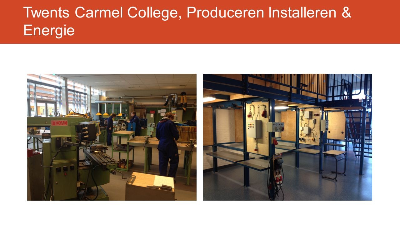 Twents Carmel College, Produceren Installeren & Energie