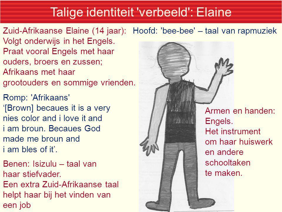 Talige identiteit verbeeld : Elaine