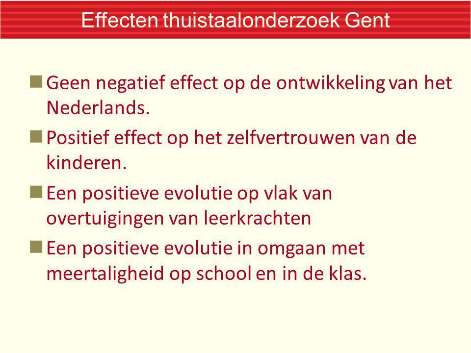 Effecten thuistaalonderzoek Gent