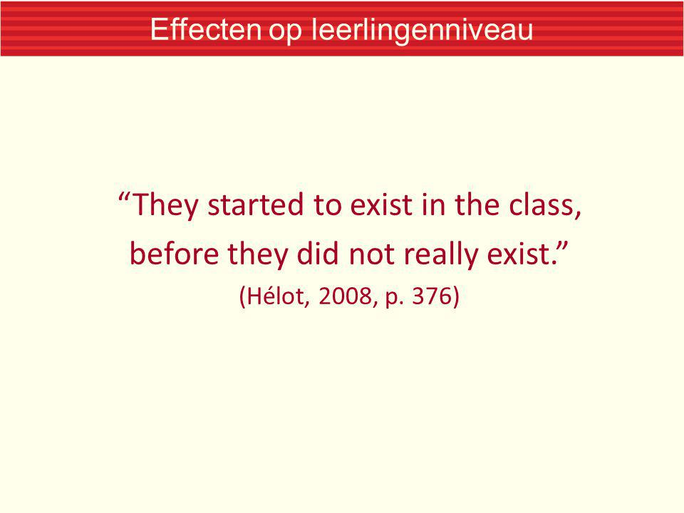 Effecten op leerlingenniveau