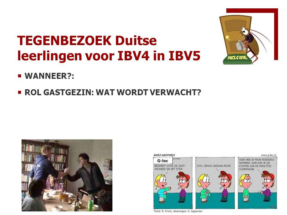 TEGENBEZOEK Duitse leerlingen voor IBV4 in IBV5