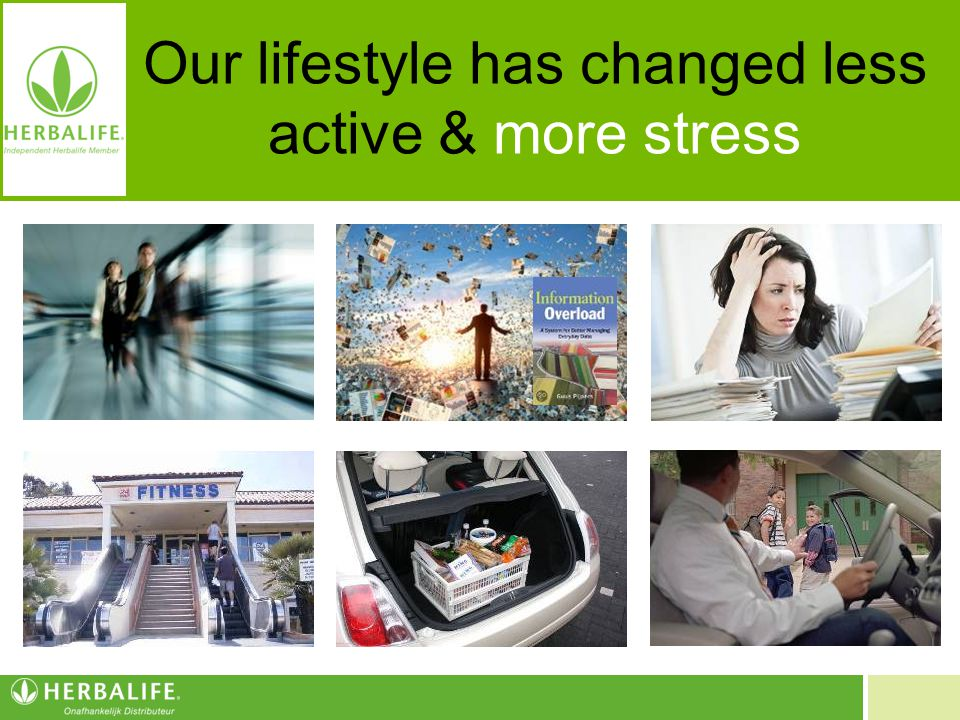 Our lifestyle has changed less active & more stress