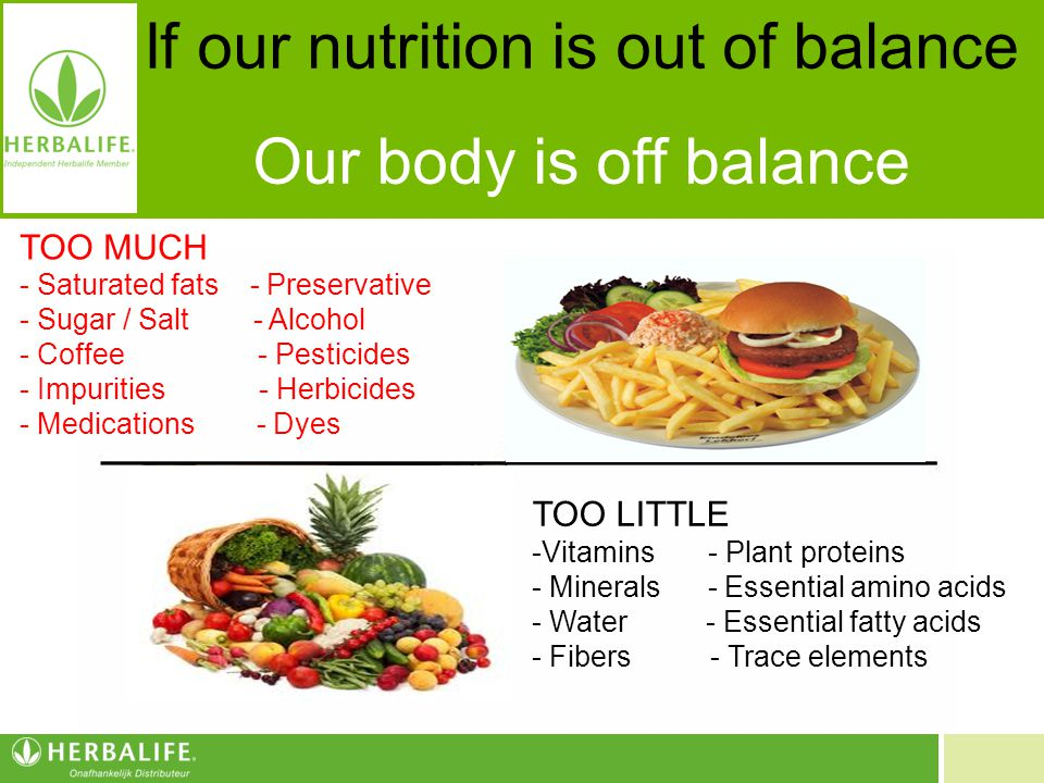 If our nutrition is out of balance