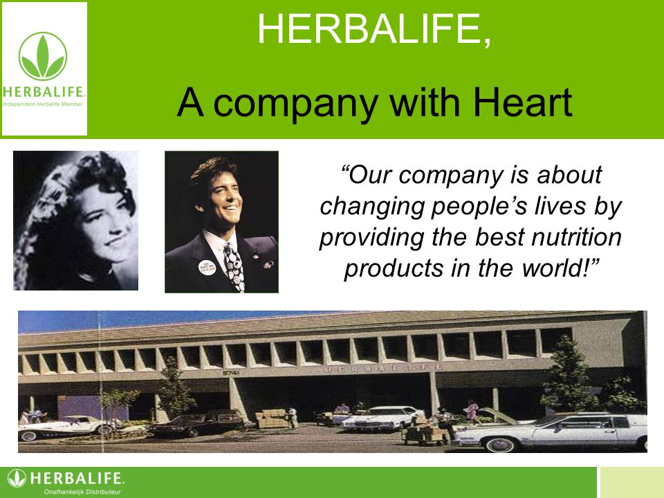 HERBALIFE, A company with Heart