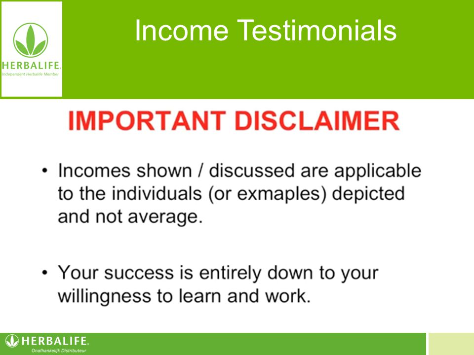 Income Testimonials Inkomens zijn van toepassing op de individuen en zijn geen garantie voor uw inkomen.