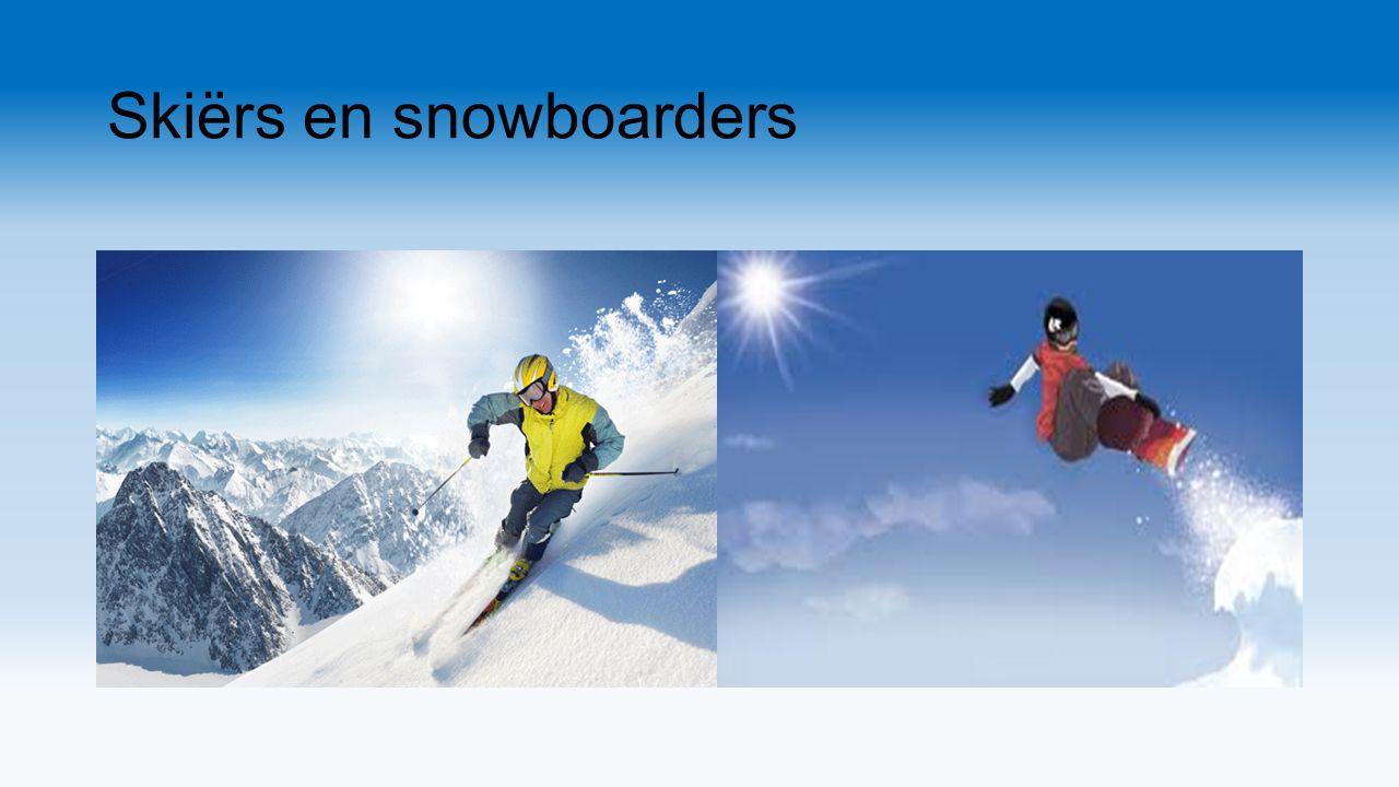 Skiërs en snowboarders