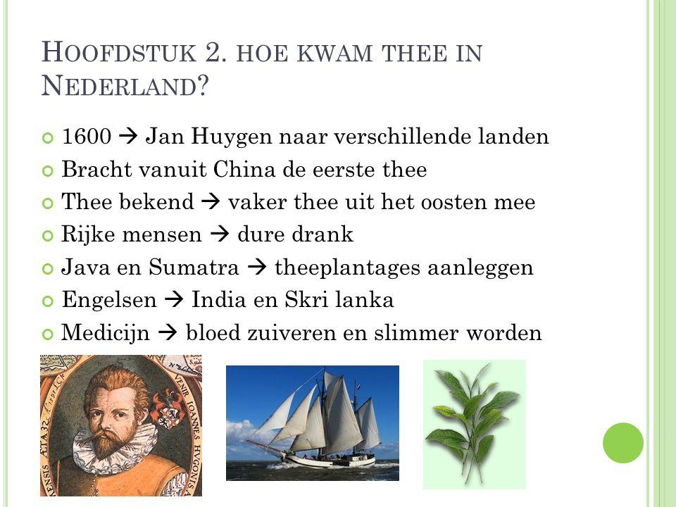 Hoofdstuk 2. hoe kwam thee in Nederland