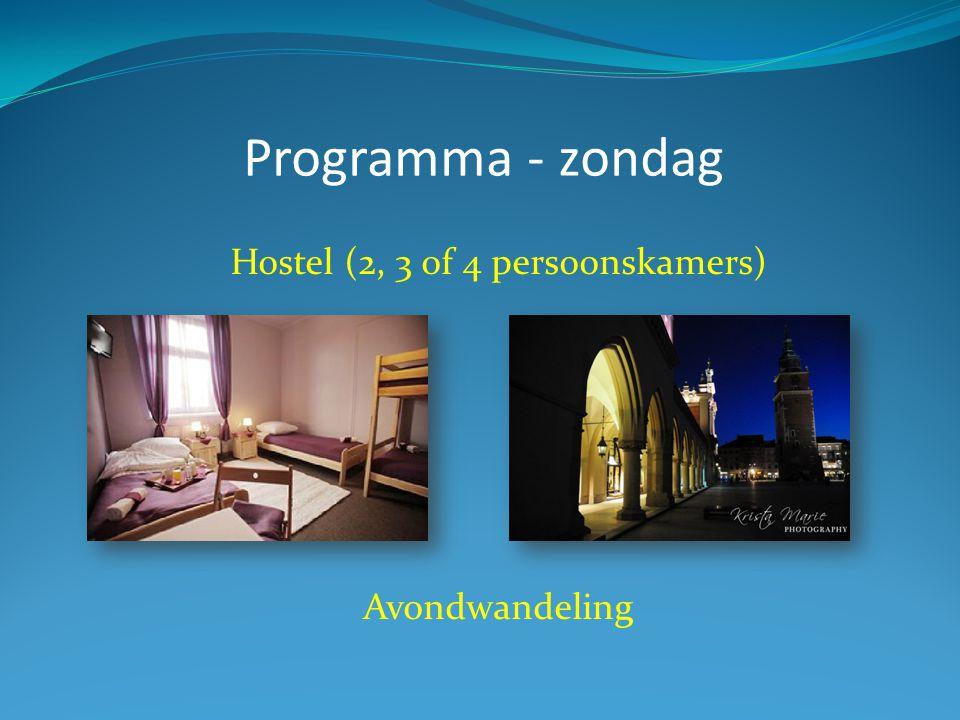 Hostel (2, 3 of 4 persoonskamers)