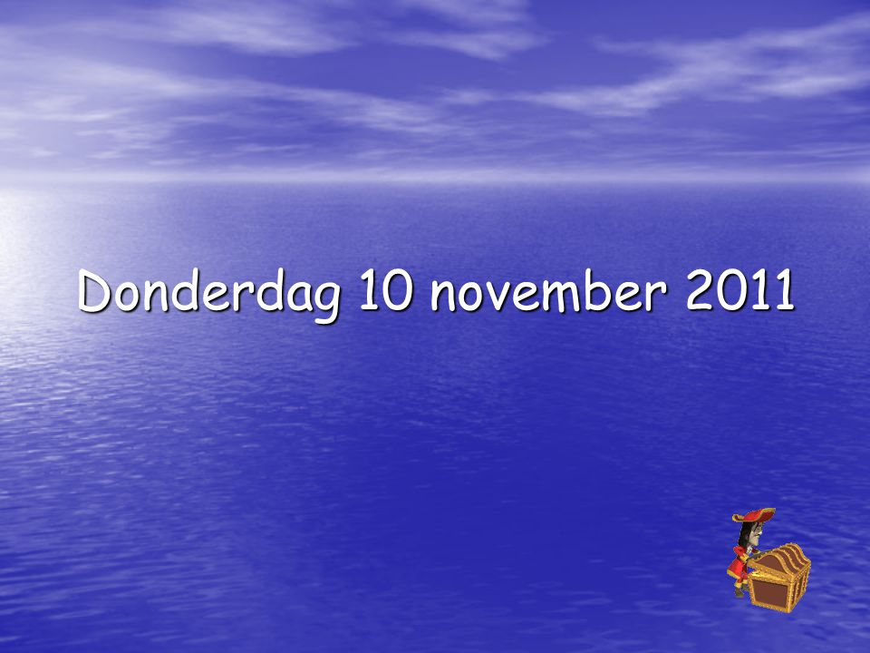 Donderdag 10 november 2011