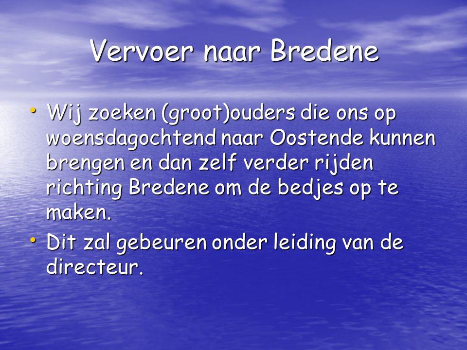 Vervoer naar Bredene