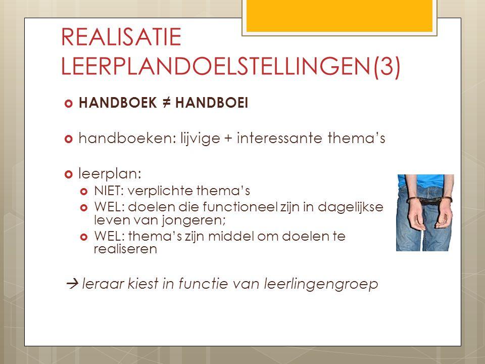 REALISATIE LEERPLANDOELSTELLINGEN(3)