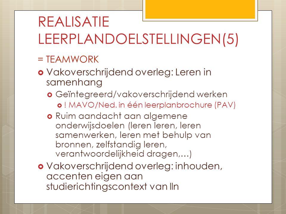 REALISATIE LEERPLANDOELSTELLINGEN(5)