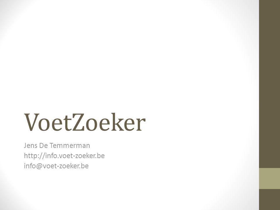 Jens De Temmerman http://info.voet-zoeker.be info@voet-zoeker.be