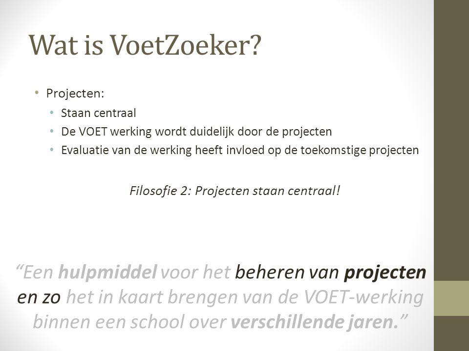Filosofie 2: Projecten staan centraal!