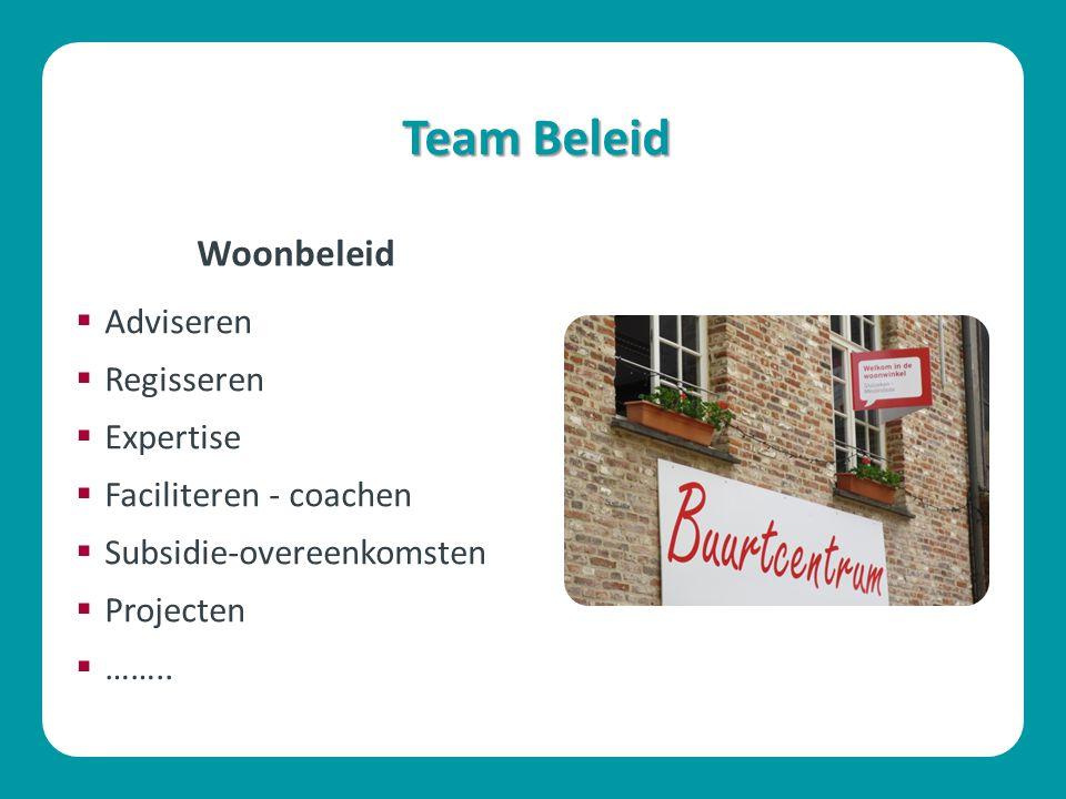 Team Beleid Woonbeleid Adviseren Regisseren Expertise